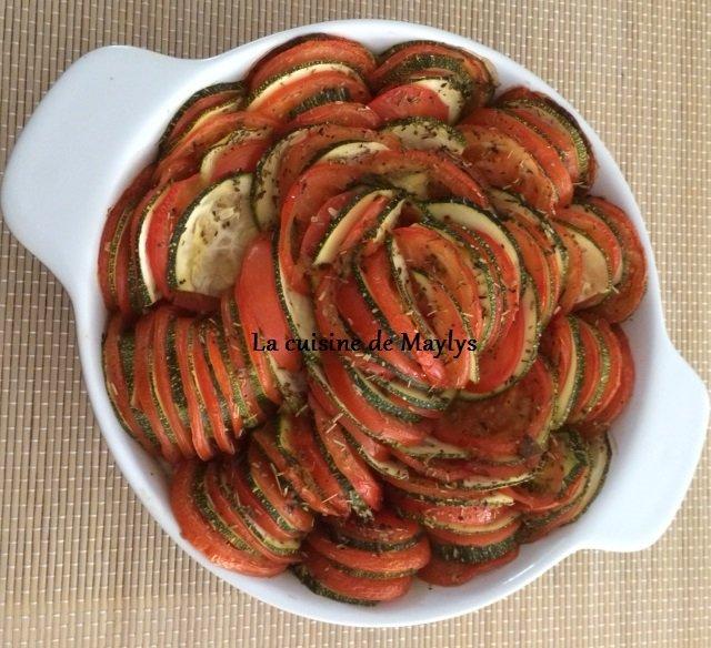 tian de tomates et de courgettes sur son lit de riz la cuisine de maylys kitchen chef may. Black Bedroom Furniture Sets. Home Design Ideas