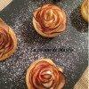 les roses feuilletées aux pommes